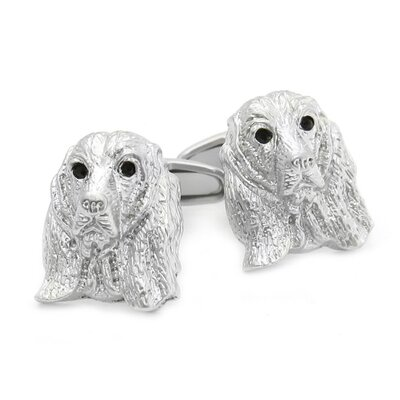 Cuff-Daddy Swarovski Crystal Cocker Spaniel Dog Cufflinks
