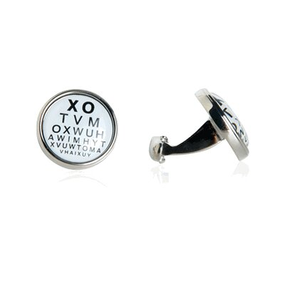 Cracked Pepper Eye Chart Novelty Cufflinks