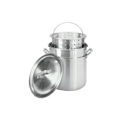Bayou Classic Aluminum Stockpot with Steamer Basket