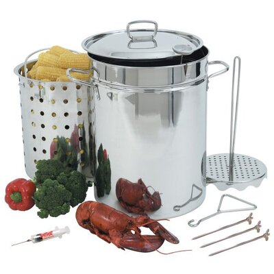 <strong>Bayou Classic</strong> Stainless Steel 32 Quart Turkey Fryer