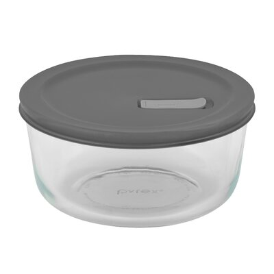 Pyrex No Leak Lids Round Storage / Baking Dish with Four Cup Capacity