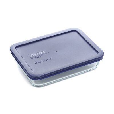 3 Cup Storage Plus Rectangular Dish wIth Plastic Cover