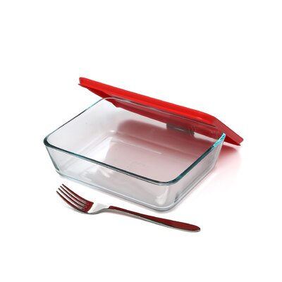 Pyrex Easy Grab 6 Piece Bakeware Set with Plastic Cover