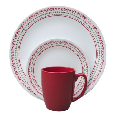 Livingware™ Holiday Stitch 16 Piece Dinnerware Set