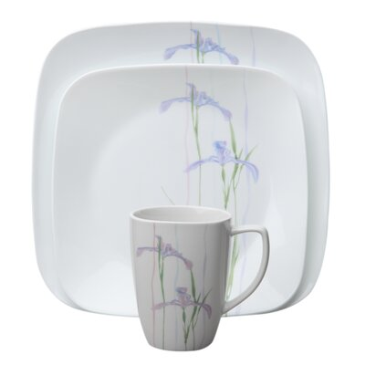 Shadow Iris Square 16 Piece Dinnerware Set