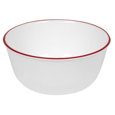Corelle Livingware Red Band 28 Oz Soup/Cereal Bowl