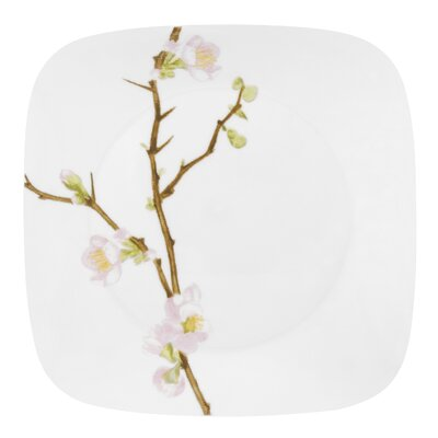 "Corelle Square Cherry Blossom 10.5"" Dinner Plate"
