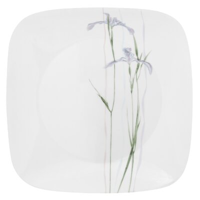 "Corelle Square Shadow Iris 10.5"" Dinner Plate"