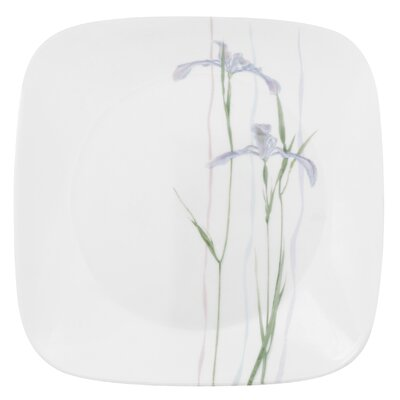 "Corelle Square Shadow Iris 9"" Plate"