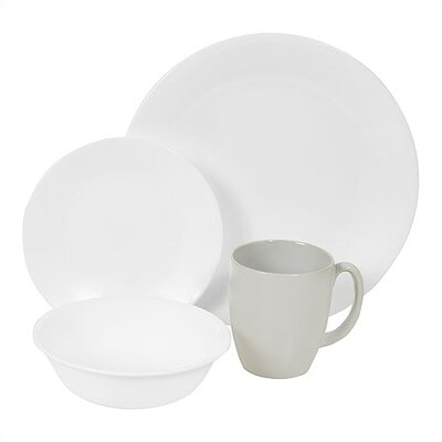 Corelle Livingware Winter Frost White 16 Piece Dinnerware Set
