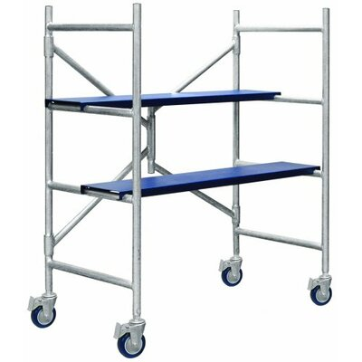 Metaltech 4' H x 1.79' W x 3.54' D Contractor Series Mini Rolling Scaffolding System