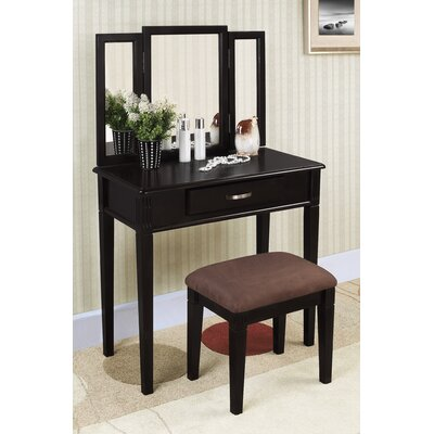 Williams Import Co. 3-Piece Vanity Set in Black