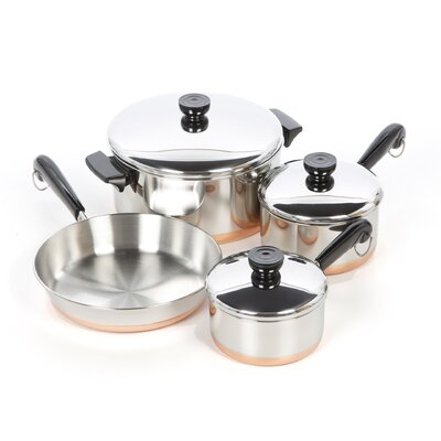 Revere Cookware 1400 Line Stainless Steel 7 Piece Cookware Set ...