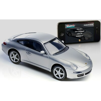 Silver Lit Bluetooth Porsche 911 1:16 Car