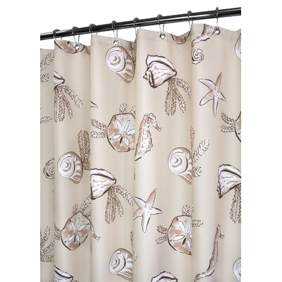 Watershed Sea Life Shower Curtain in Linen