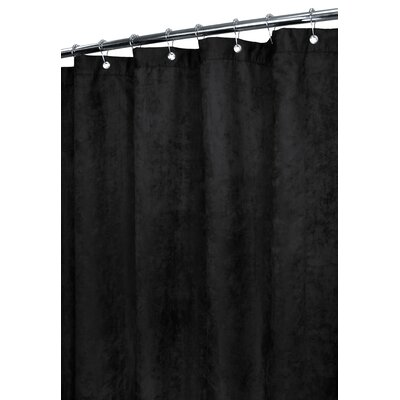 Watershed Rich Suede Shower Curtain in Black