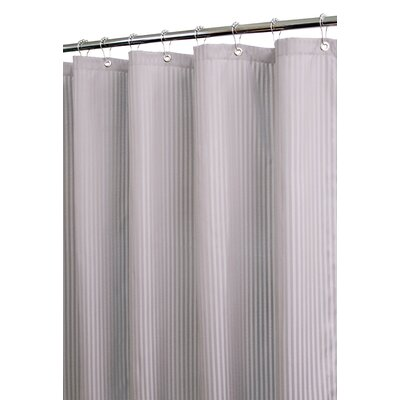 Solid Polyester Satin Stripe Shower Curtain
