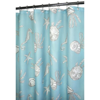 Watershed Watershed Prints Polyester Sea Life Shower Curtain