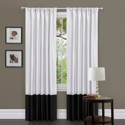 Special Edition by Lush Decor Covina Rod Pocket Curtain Panel Pair with Tieback