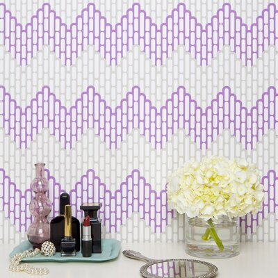Kimberly Lewis Home Sierra Chervon Herringbone Wallpaper