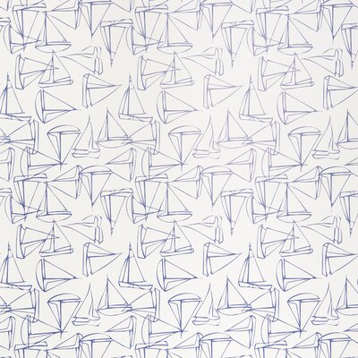 Kimberly Lewis Home Set Sail Geometric Wallpaper