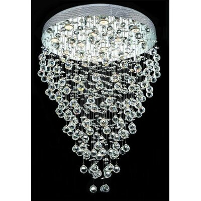 Elegant Lighting Galaxy 12 Light Flush Mount
