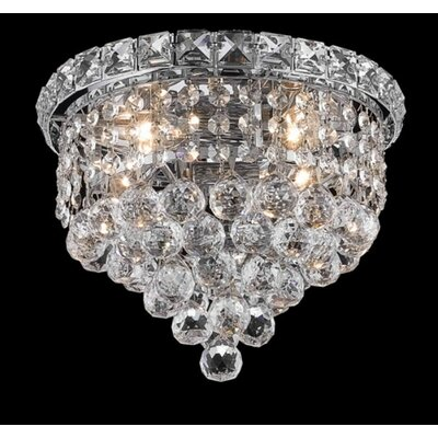 "Elegant Lighting Tranquil 4 Light 10"" Semi Flush Mount"