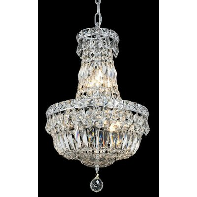 Tranquil 6 Light Chandelier with Crystal