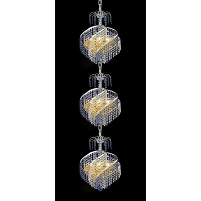 Elegant Lighting Spiral 9 Light Chandelier