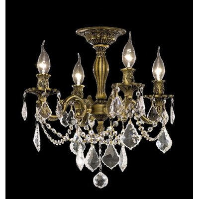 "Elegant Lighting Rosalia 19"" 4 Light Chandelier"
