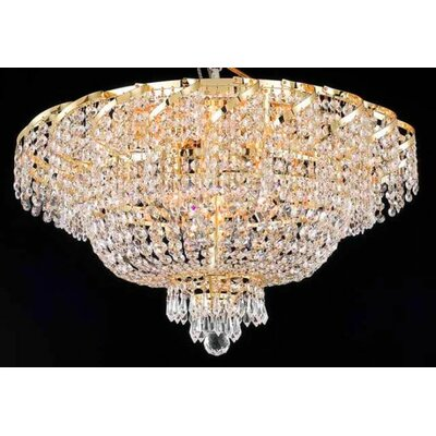 "Elegant Lighting Belenus 18 Light 13"" Flush Mount"