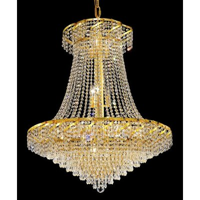 Elegant Lighting Belenus 18 Light Chandelier with Crystal