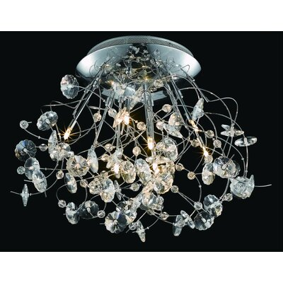 Elegant Lighting Iris 9 Light Ceiling / Semi Flush Mount