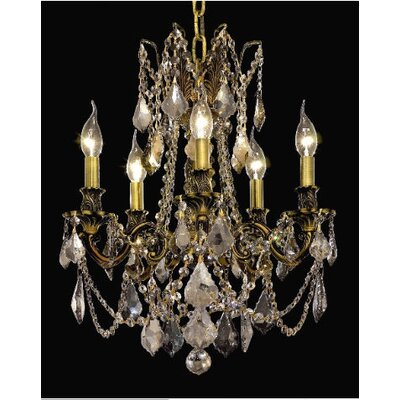 Elegant Lighting Rosalia 5 Light Chandelier