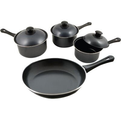 KitchenWorthy Stainless Steel 7-Piece Cookware Set with Crate