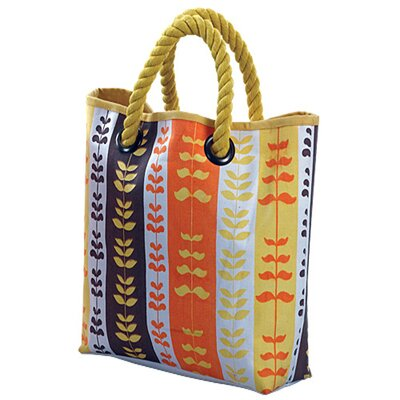 Jute Farm Natural Heartbeat Canvas Tote Bag