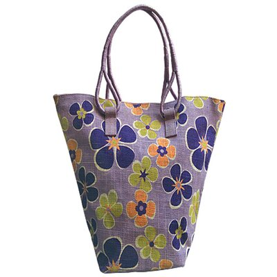 Natural Rose Jute Tote Bag