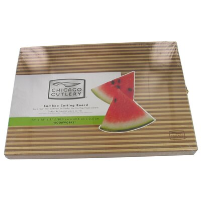 Chicago Cutlery Two Tone Bamboo Cutting Board