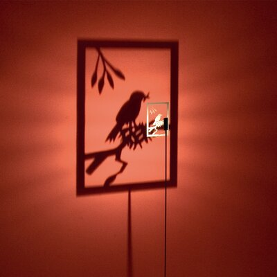Absolut Lighting Shining Image One Bird Floor Lamp