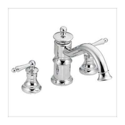 Showhouse by Moen Waterhill Double Handle Roman Tub Faucet in Chrome