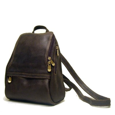 Distressed Leather U-Zip Women's Backpack