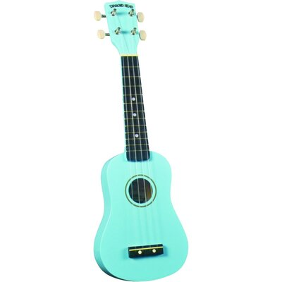 Diamond Head Soprano Ukulele with Light Blue Match Case