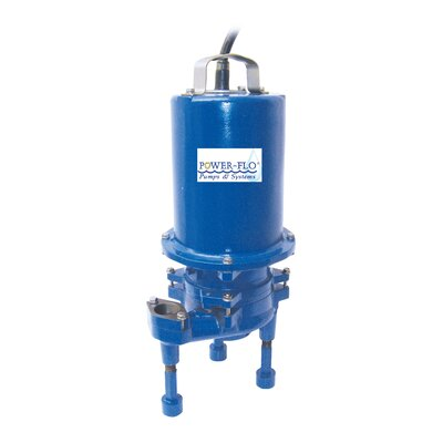 2 HP Grinder High Volume Submersible Pump with Double Seal 4 Amps
