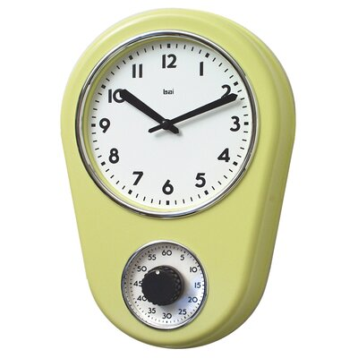 "Bai Design 8.5"" Kitchen Timer Retro Modern Wall Clock"