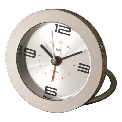 Diecast Round Travel Alarm Clock
