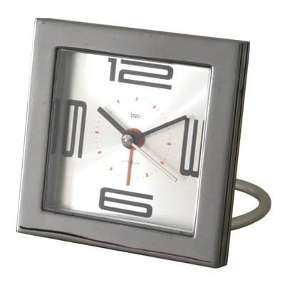 Bai Design Diecast Square Travel Alarm Clock