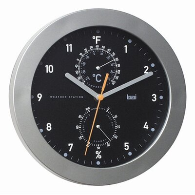 Designer Weather Station Wall Clock