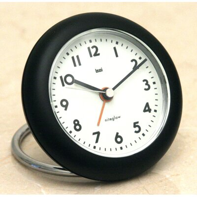 Bai Design Rondo Travel Alarm Clock in Black