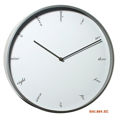 Bai Design Modernist Steel Script Wall Clock