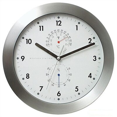 Bai Design Weather Master Weather Station Modern Wall Clock